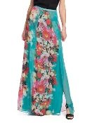 GUESS BY MARCIANO PALM BEACH MAXI SILK SKIRT MULTI $119 SHIPPED FREE~~~ALSO FREE LOCAL DELIVERY NOW AVAILABLE WITHIN 10 MILES OF SANTA MONICA, CALIFORNIA ZIP CODE 90404~~~ WEBSITE: www.sblseasonal.com