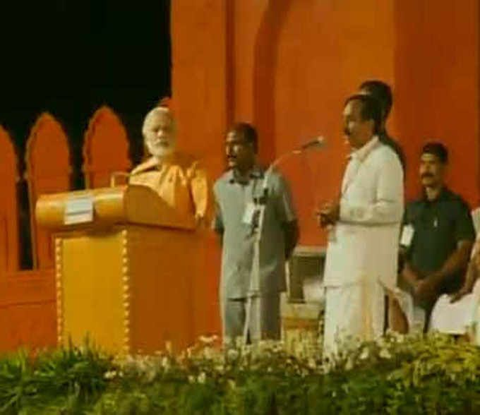 At Trichy rally, Modi raises questions about the need for Singh-Sharif talks Find Latest Breaking News in English News paper online Daily only on http://daily.bhaskar.com/national/