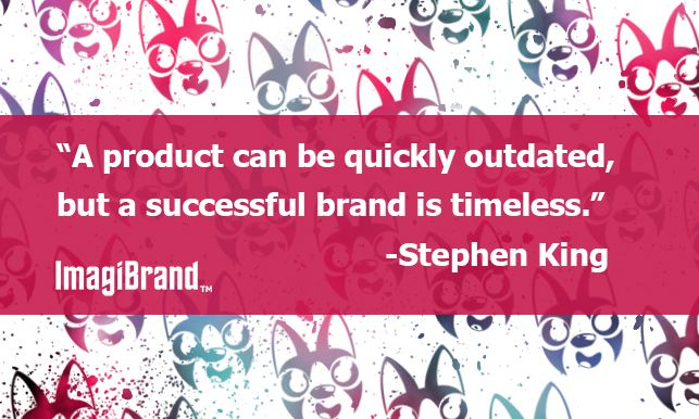 """A product can be quickly outdated, but a successful brand is timeless."" ~Stephen King  See the post on #facebook : https://www.facebook.com/photo.php?fbid=830040690346306&set=a.502767616406950.133155.499834246700287&type=1&stream_ref=10  #LiveToCreate #ImagiBrand #Quote #QuoteoftheDay #branding #BrandingQuote  #quoteoftheday"