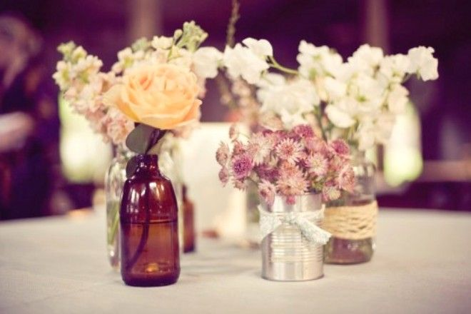 DIY Rustic Wedding Centerpieces