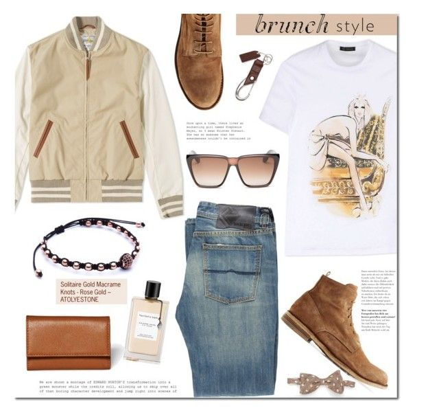 Atolyestone.com by mada-malureanu on Polyvore featuring Versace, Rock & Roll Cowboy, Golden Bear, Officine Creative, Givenchy, Ralph Lauren, Master-Piece, Van Cleef & Arpels, men's fashion and menswear