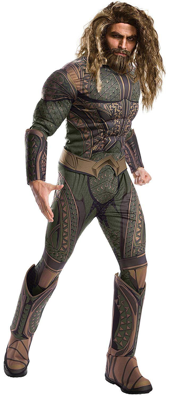 DC Comics - Disfraz Aquaman Deluxe para adultos 364065b9b39c