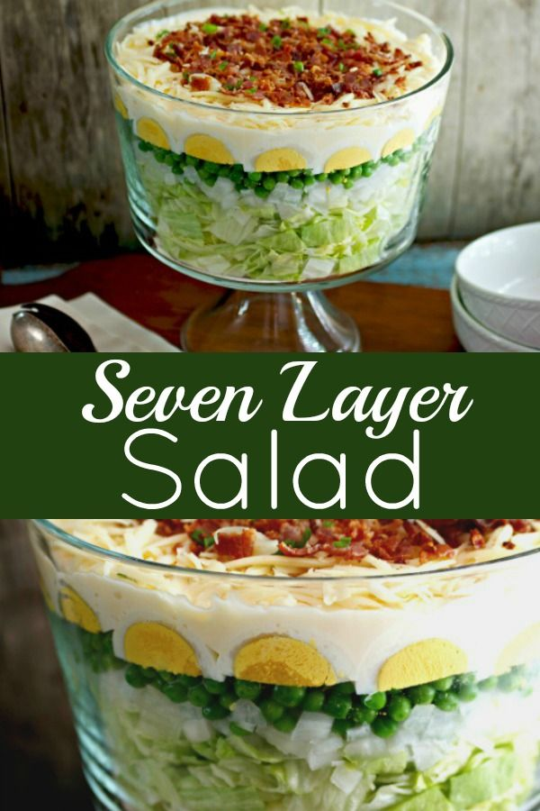 Easy 7 Layer Salad Southern Classic Tasty Ever After Recipe Layered Salad Side Dishes For Bbq Layered Salad Recipes