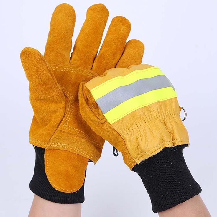 Firefighting Gloves Wear Resistant Leather Waterproof ,click to see more detail information about Fireproof Gloves,customize available