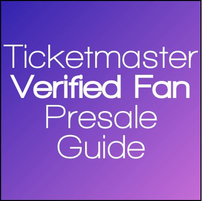 What is a Verified Fan Presale Through Ticketmaster?  You may have seen a link or reference in one of our Tour Guides, but what is a Verified Fan presale option through Ticketmaster? How can you use Verified Fan to your advantage in order to get early premium tickets to a concert or show? Read our guide below for more details.  #ticketmaster #tourguides #tourinfo #viptickets #tickets