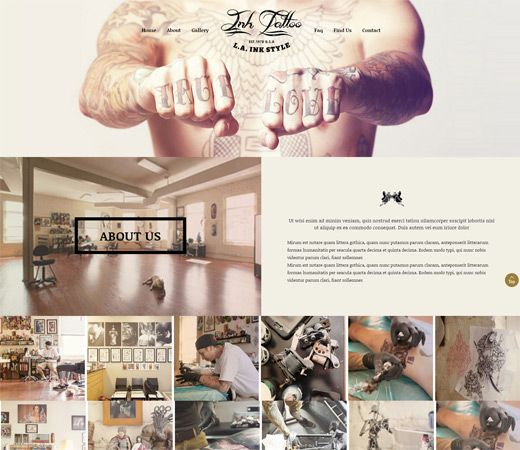 Ink Tattoo a Fashion Category Flat Bootstrap Responsive web template. http://w3layouts