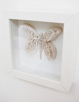 Laser cut butterfly artwork