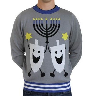 I once told someone that there was no such thing as ugly Hanukkah sweaters.  I was wrong...