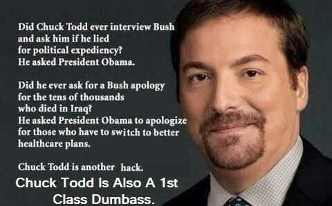 """UPDATE: Chuck Todd Lied & Falsely Accused President Obama of Not Mentioning """"Syria."""" CHUCK TODD IS SCUM!!!"""