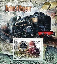Burundi 2012 Stamp, BUR1228B Train a vapeur,Venezia,Santa Lucia,S/S