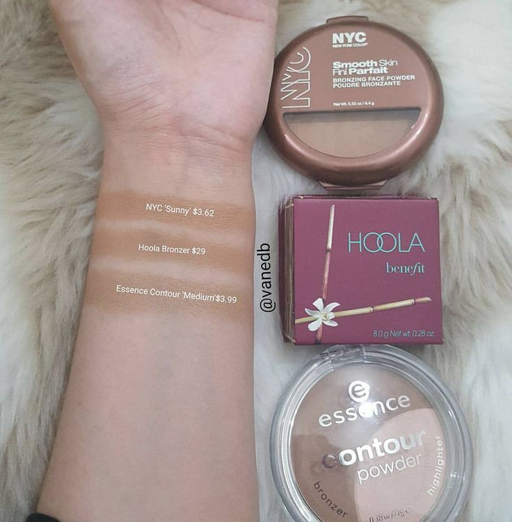 Comparison to the Benefit Hoola Bronzer!My fav is definetely the Essence Contour powder!That is almost exact to the Hoola Bronzer!