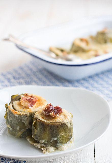 receta-de-alcachofas-rellenas-de-jamon-y-bechamel-3 by Uno de dos, via Flickr