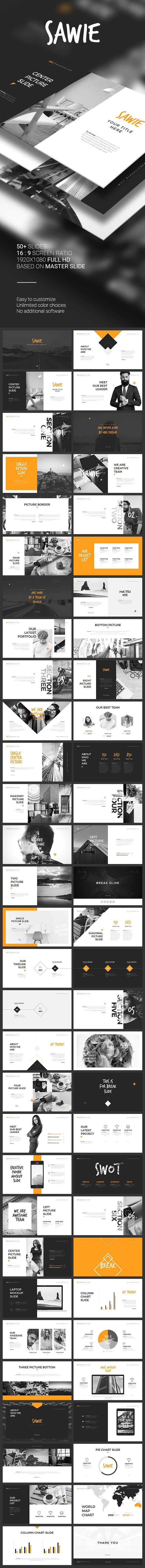SAWIE PowerPoint Template #powerpoint #pptx #chart #lettering • Download ➝ https://graphicriver.net/item/sawie-powerpoint-template/18705123?ref=pxcr