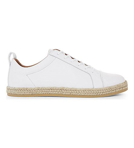 WHISTLES Kenley Espadrille Leather Sneakers. #whistles #shoes #sneakers