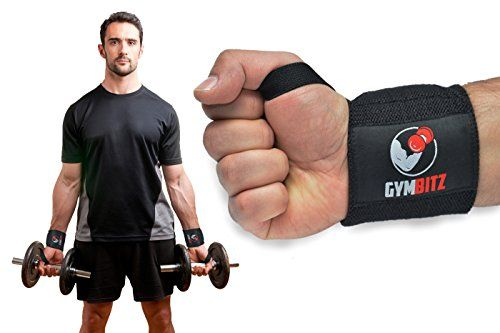 Wrist Wraps + Padded Lifting Straps Premium Quality Complete Bundle by Gym Bitz (Free Storage Bag) - for Weightlifting | Crossfit | Bodybuilding | Powerlifting | WOD | Workout | Gym Training Equipment & Accessories - Durable Wrist Brace, Combo-Support for Men & Women - Enhance Your Fitness Now! (Black)