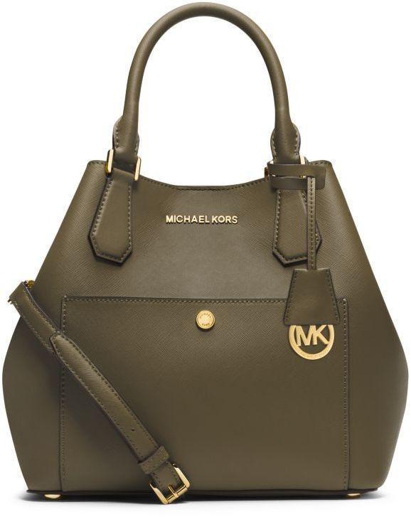 MICHAEL Michael Kors Greenwich Large Saffiano Leather Satchel <> @kimludcom Diese und weitere Taschen auf www.designertaschen-shops.de entdecken Diese und weitere Taschen auf www.designertaschen-shops.de entdecken