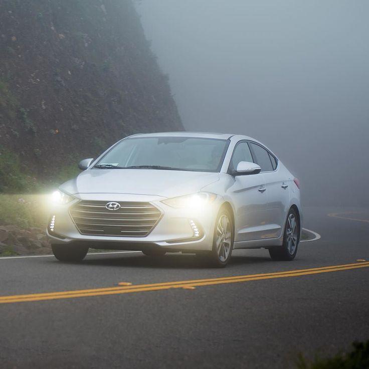 Foggy corners? Not a problem. Dynamic Bending Headlights in the #HyundaiElantra. #NotJustNewBetter.