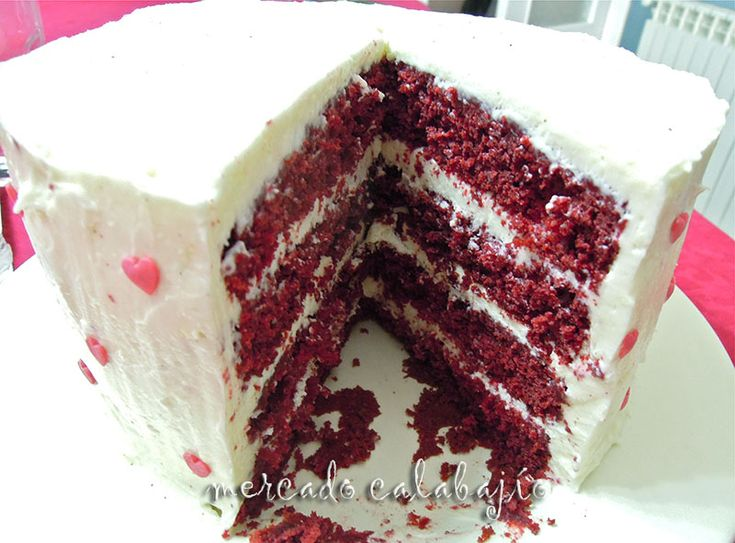 Red velvet layer cake. Receta - Mercado Calabajío