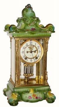 Porcelain Regulator No. 5 - c.1905. Ansonia Clock Company,  (American - New York City).
