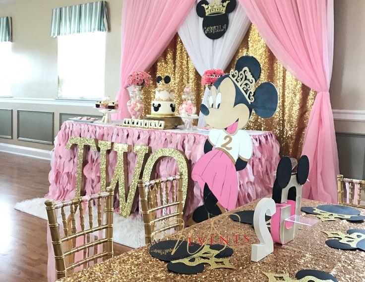 Minnie mouse birthday princess minnie birthday party for 2nd birthday party decoration ideas