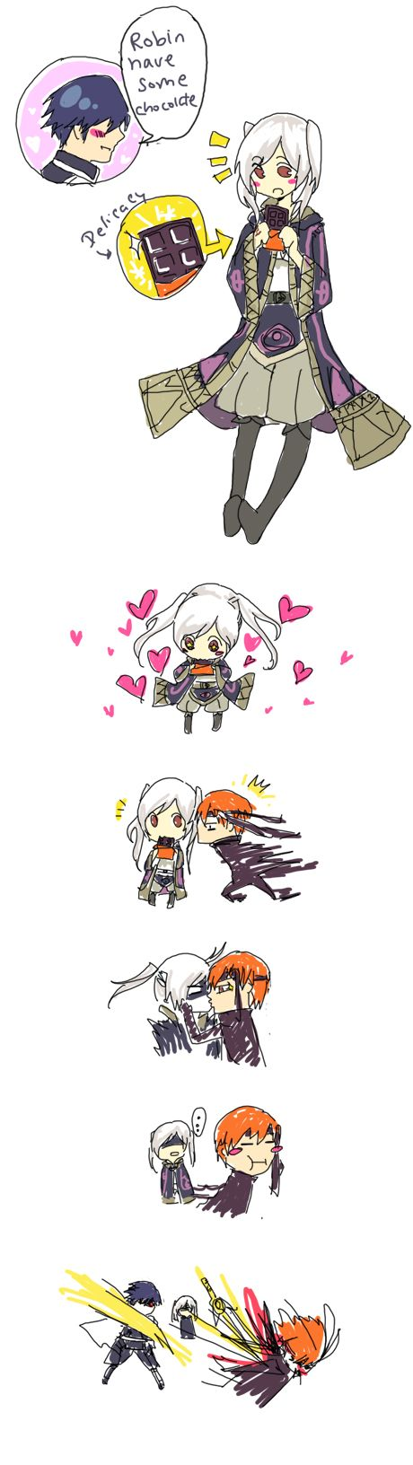 Gaius Confect by C2ii on deviantART - Love how Chrom is so jealous. So cute. :3