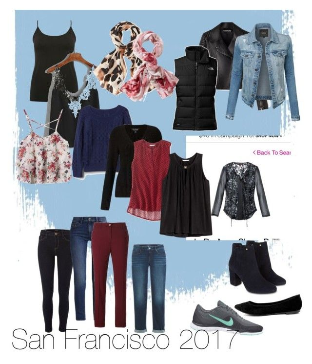 """""""San Francisco weekend"""" by mandy-curtis on Polyvore featuring River Island, Calvin Klein, Breckelle's, NIKE, The North Face, M&Co, WithChic, Vince Camuto, TravelSmith and LE3NO"""