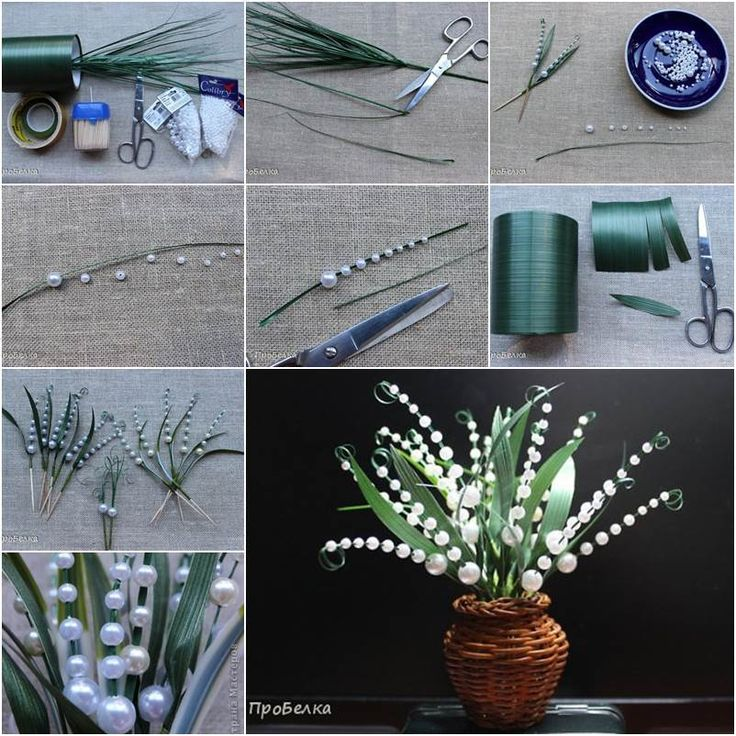 DIY Beautiful Beaded Lily of the Valley #DIY #craft #beading