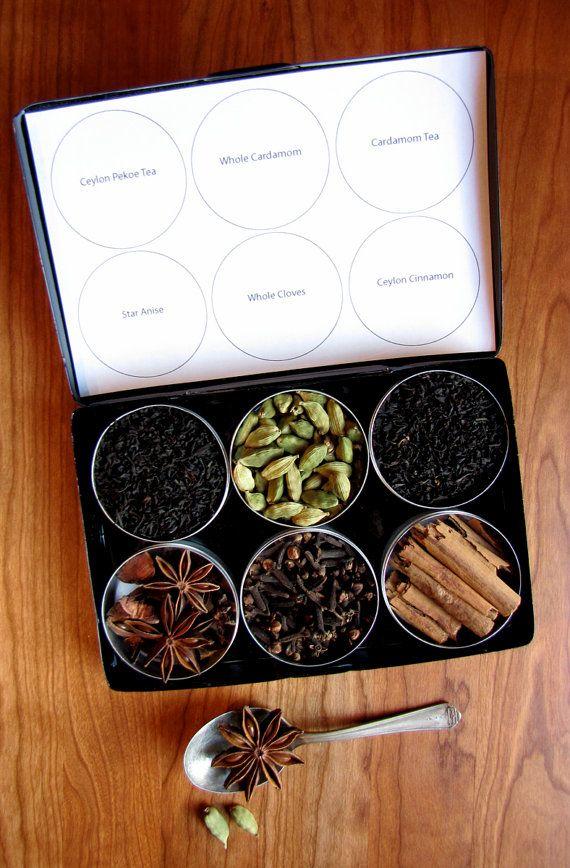 Organic DIY chai tea kit with recipe set of 6 by purposedesign