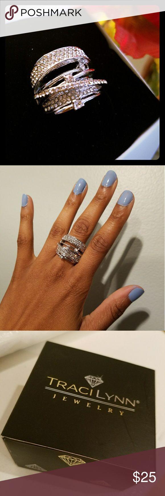 "Tracilynn Diva Stretch Ring Brand new, never worn! ""Diva Stretch Ring"" stretches to fit your finger. Traci Lynn Jewelry Rings"