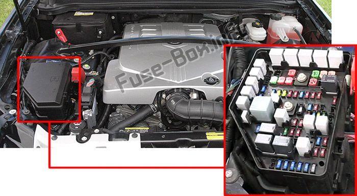 Pin on Cadillac SRX (2004-2009) fuses and relays | 2004 Cadillac Srx Fuse Diagram |  | Pinterest