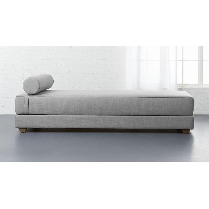 lubi silver grey sleeper daybed   CB2