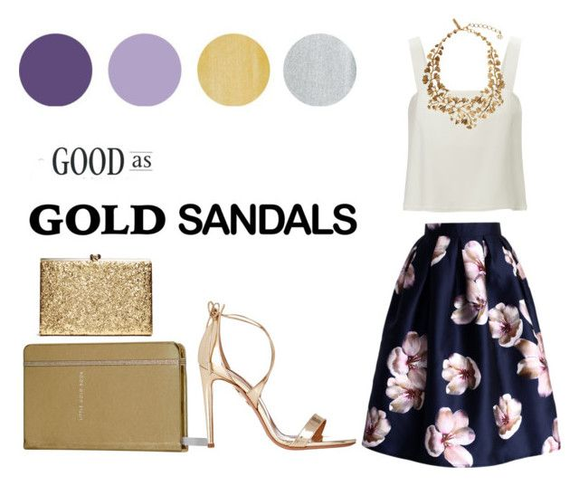 """All that is gold does not glitter"" by sparrows-and-poppy on Polyvore featuring Chicwish, 3.1 Phillip Lim, Oscar de la Renta, Kate Spade and Aquazzura"