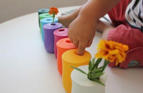 Reciclando botes de cristal… Jarrones de colores | DecoPeques -Decoración infantil, Bebés y Niños