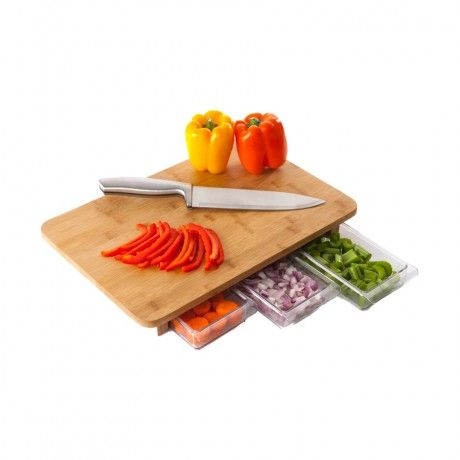 Mise en place just got even easier with this Quirky Mocubo cutting board! #kitchen #cooking #gift