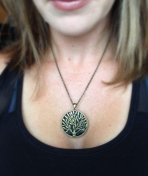 Misfit Shine Pendant / Necklace Metallic Antiqued by techGLAM