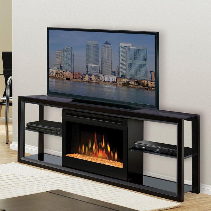 Contemporary Electric Fireplace Media Center