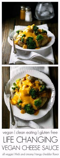 Life Changing Vegan Cheese Sauce   unbelievably easy and cheesy!   #vegan #glutenfree #cleaneating   Eat Healthy Eat Happy