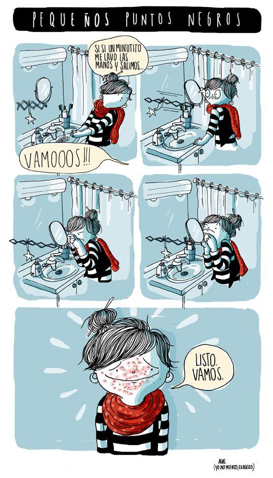 agustina guerrero illustration: diario de una voltil pequeos puntos negros realidad :S