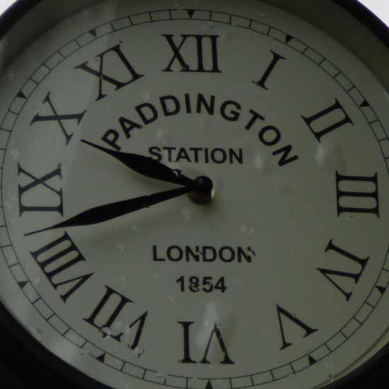 buy paddington station outdoor clock delivery by waitrose garden in association with crocus