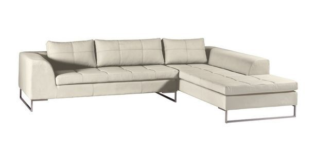 Napoli Leather Left Arm Facing Corner Sofa Vienna Dfs