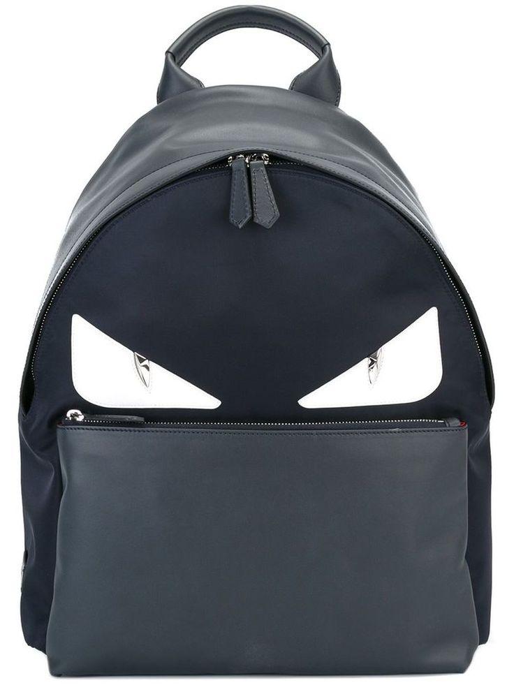 FENDI BACKPACK BAG BUGS BACKPACK DARK BLUE MONSTER EYES 7VZ012 8FL F06HU  #FENDI #Backpack