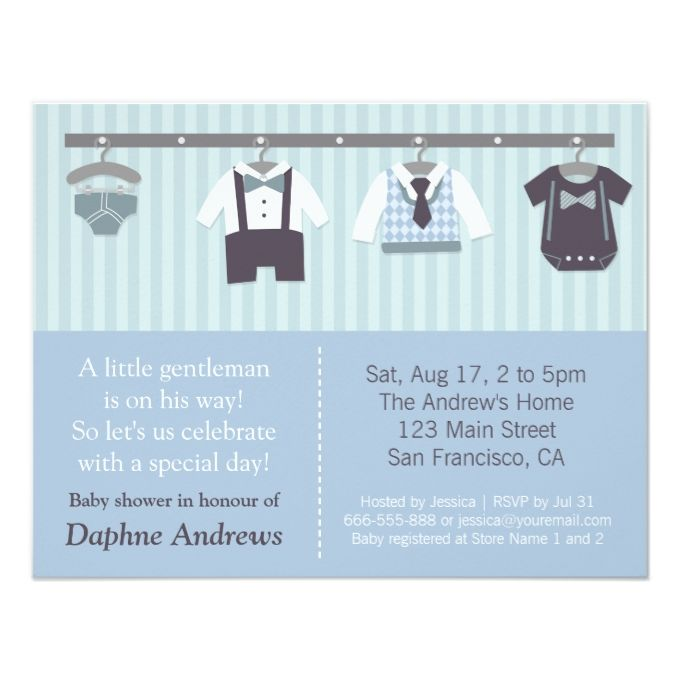 1433 best Baby Boy Shower Invitations images on Pinterest