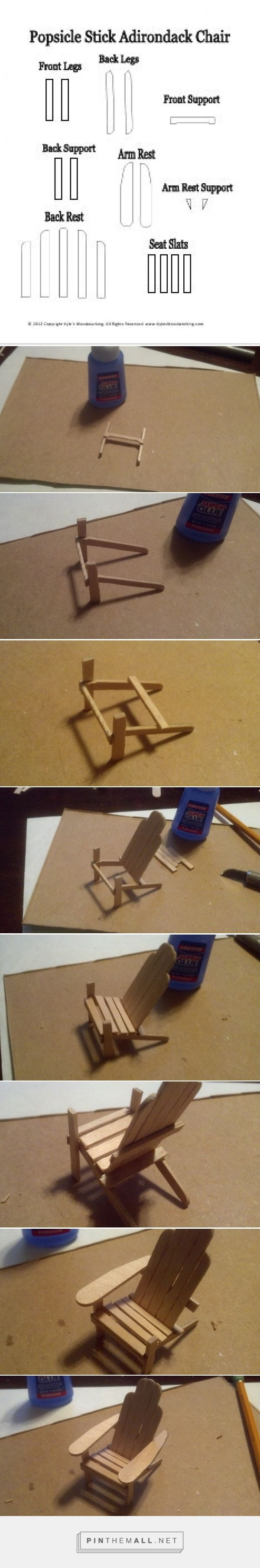 Adirondack chair back slats - How To Make A Popsicle Stick Mini Adirondack Chair A Grouped Images