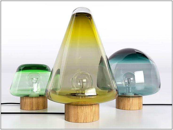 Skog Lamps designed by Caroline Olsson for Magnor Glassverk.