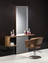 Coiffeuse contemporaine / en bois / murale / pour salon de coiffure                                                                                                                                                     Plus