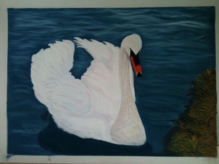 """Sallins Swan Pastel 15 x 13"""""""