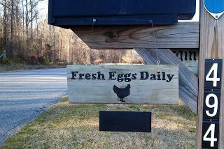sign out on your mailbox advertising that you have eggs.  One with a hanging 'chalkboard' makes it easy to advertise your price or tell customers when you have eggs for sale and when you don't.