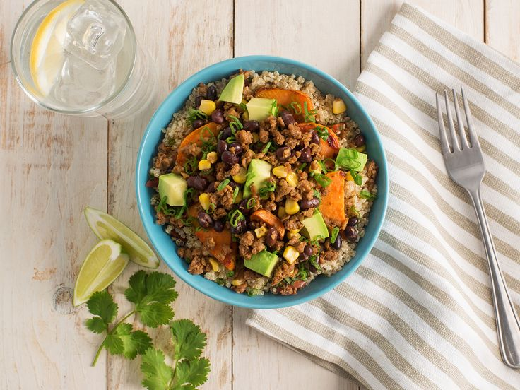 BLACK BEAN AND SWEET POTATO TACO BOWL