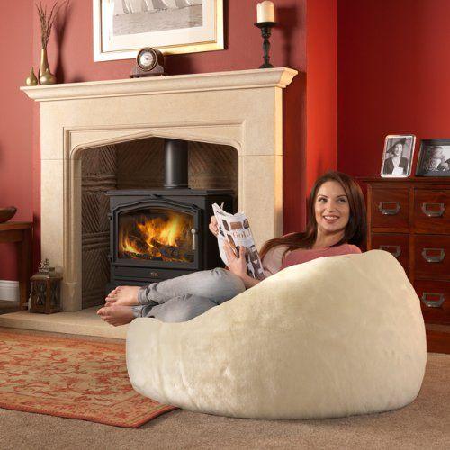 ICON XL Panelled Faux Fur Bean Bag Chair