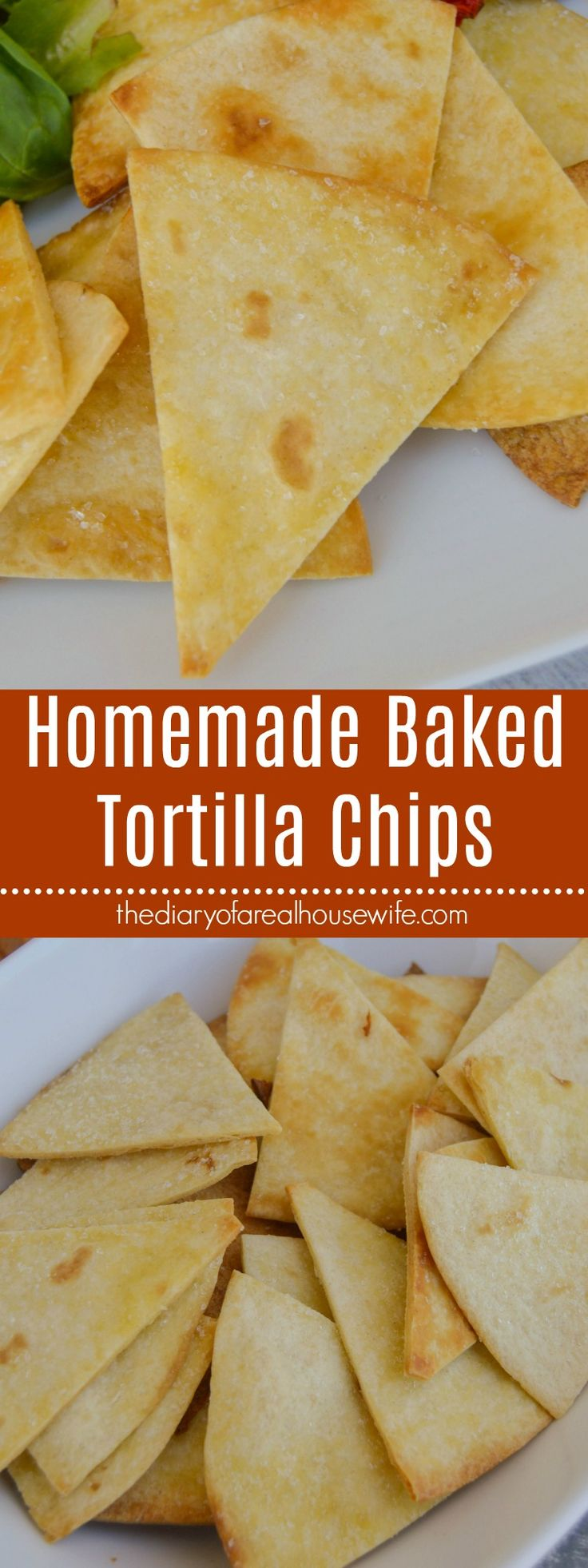 Homemade Baked Tortilla Chips baked perfectly crispy and salty and serve with a my favorite Frontera® bowl. https://www.thediaryofarealhousewife.com/homemade-baked-tortilla-chips/ #ExperienceFrontera [AD]